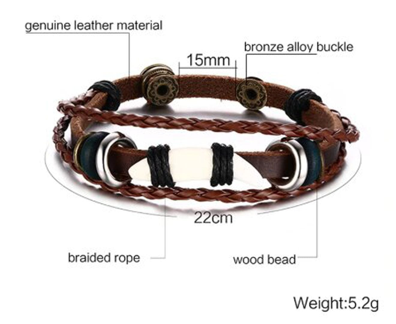 Genuine Leather Bracelets for Men and Women