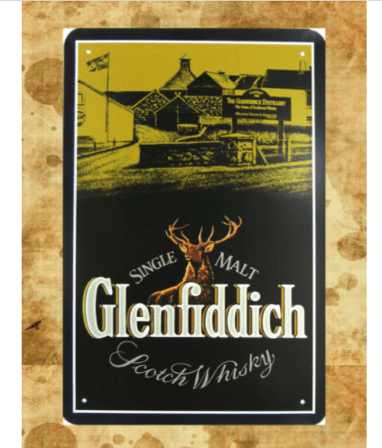 Glenfiddich  scotch Whisky Metal Tin Sign Poster