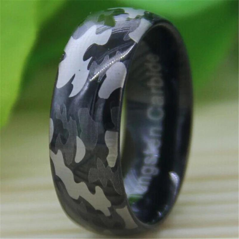 Tungsten Camo Army Ring