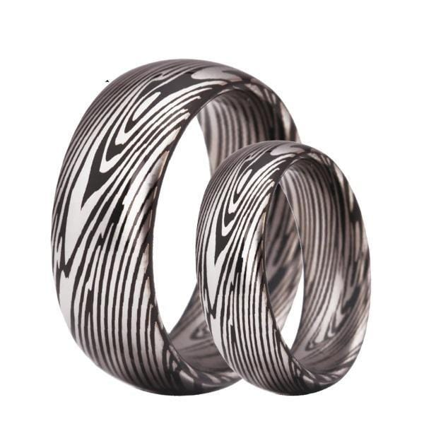Tungsten 8mm Abstract Wedding Bands
