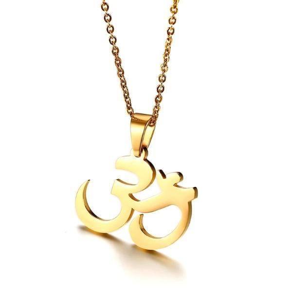 Mens OHM  Pendant Necklace
