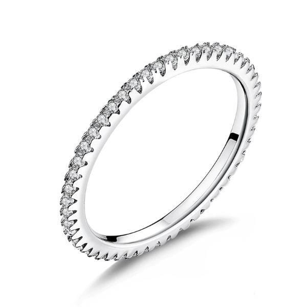 Silver Crystal Studded Ring