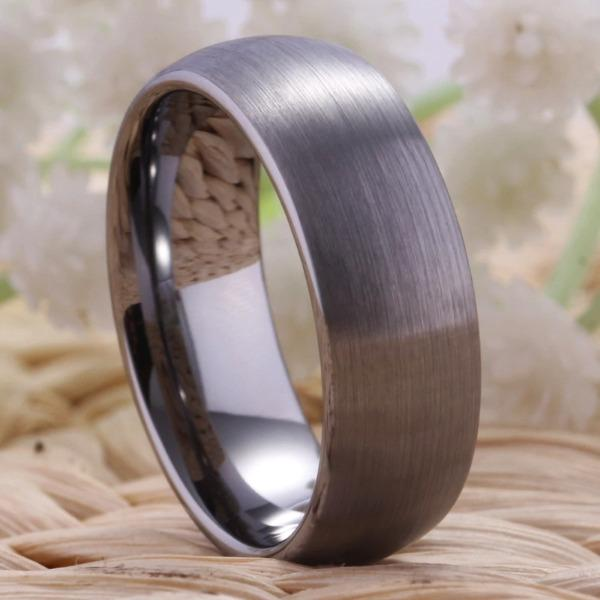 Tungsten Classic Matte Ring