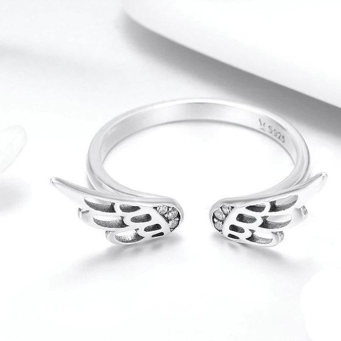 Silver wings Adjustable Engagement Ring
