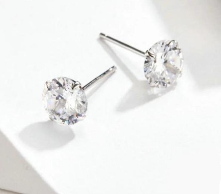 Silver Wedding Studs Earrings