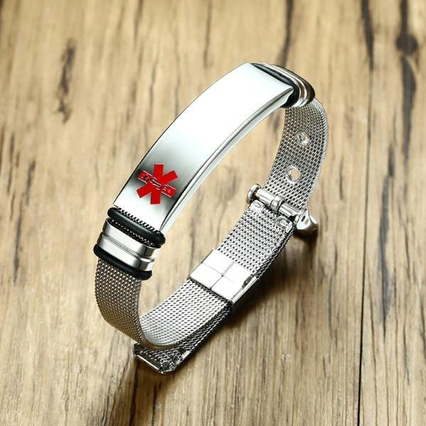 Personalised Medical Alert Bracelet