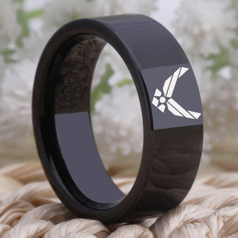 Tungsten Air Force Ring