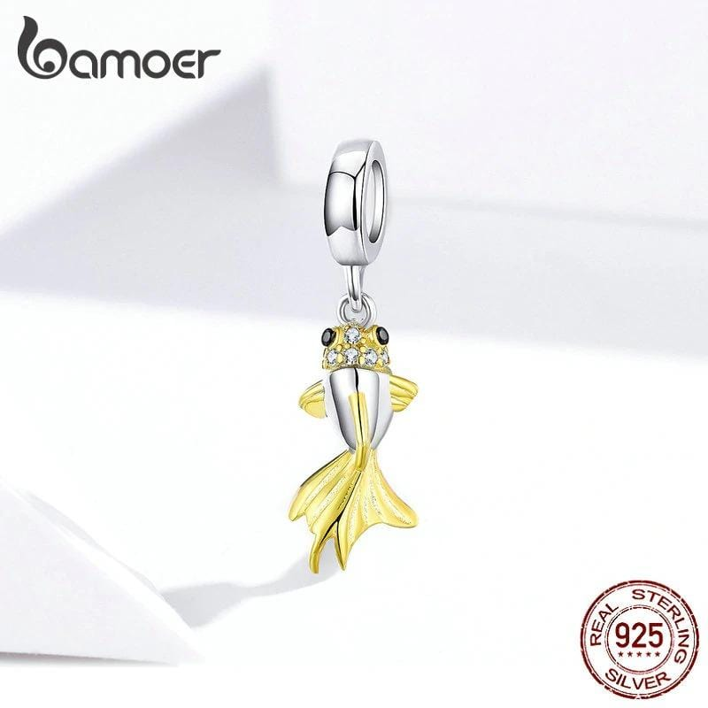 Two-Tone Hanging Fish Charm