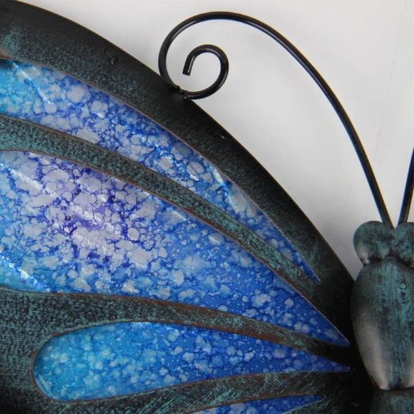 Blue Butterfly Metal Wall Art