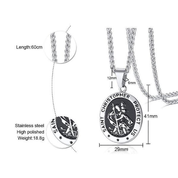 Saint Christopher  Pendant Necklace