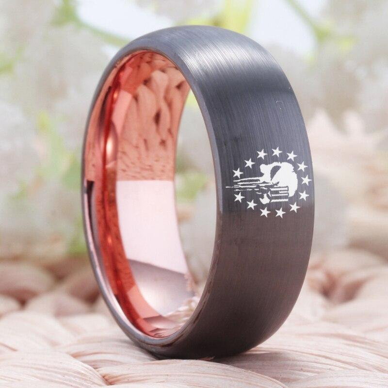 Tungsten Two Tone Skull Ring