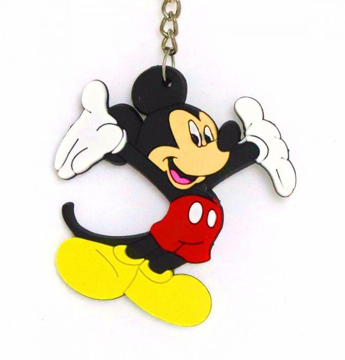 MICKIE AND MINNIE MOUSE PVC CARTOON KEYCHAIN