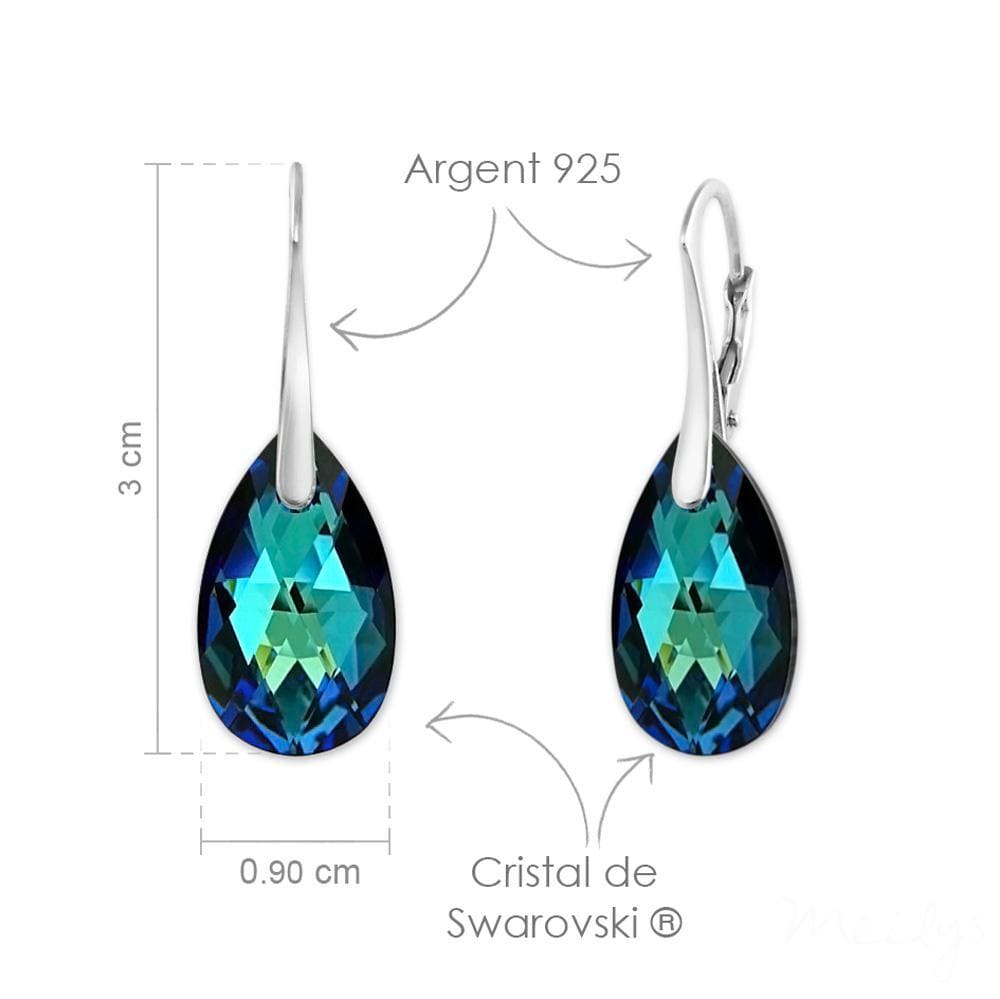 Bermuda Blue Pendant Necklace Jewellery Set with Swarovski Crystal
