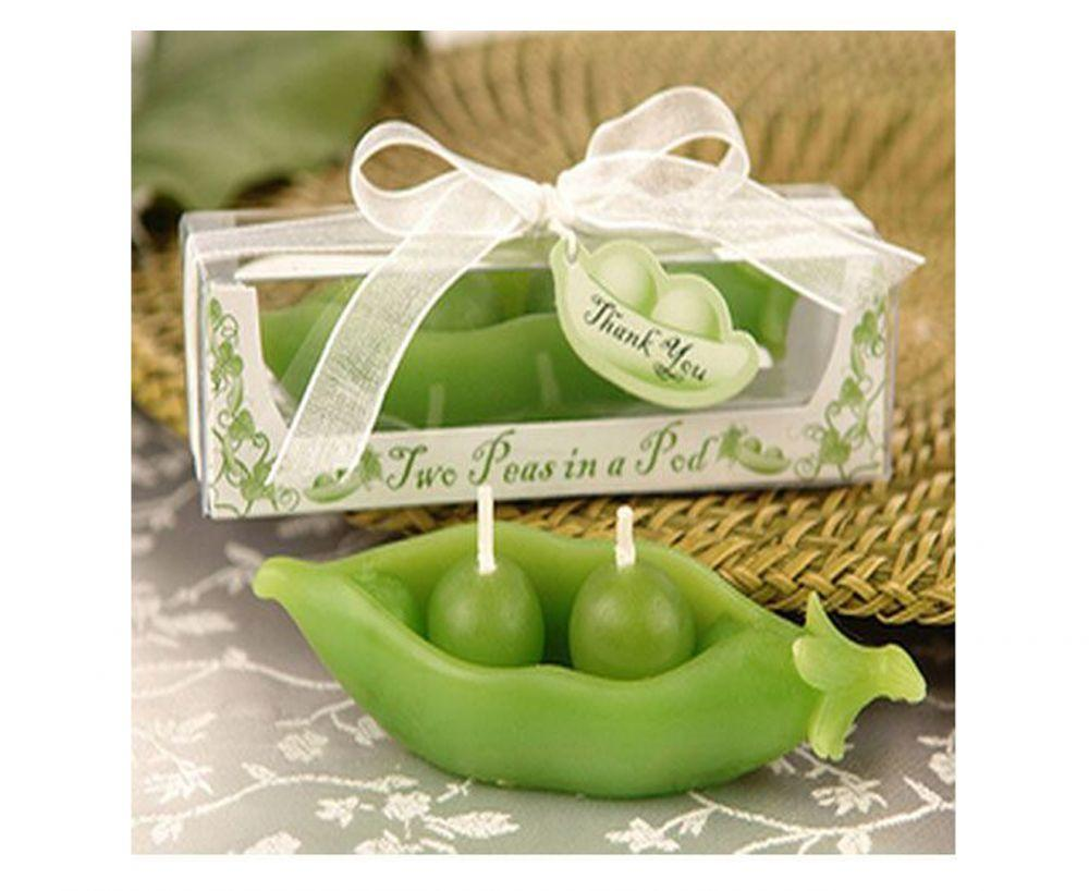 2 Pcs - Pea Pod Scented Candles
