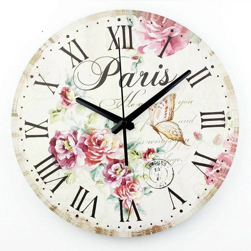 Vintage home decor paris wall clock