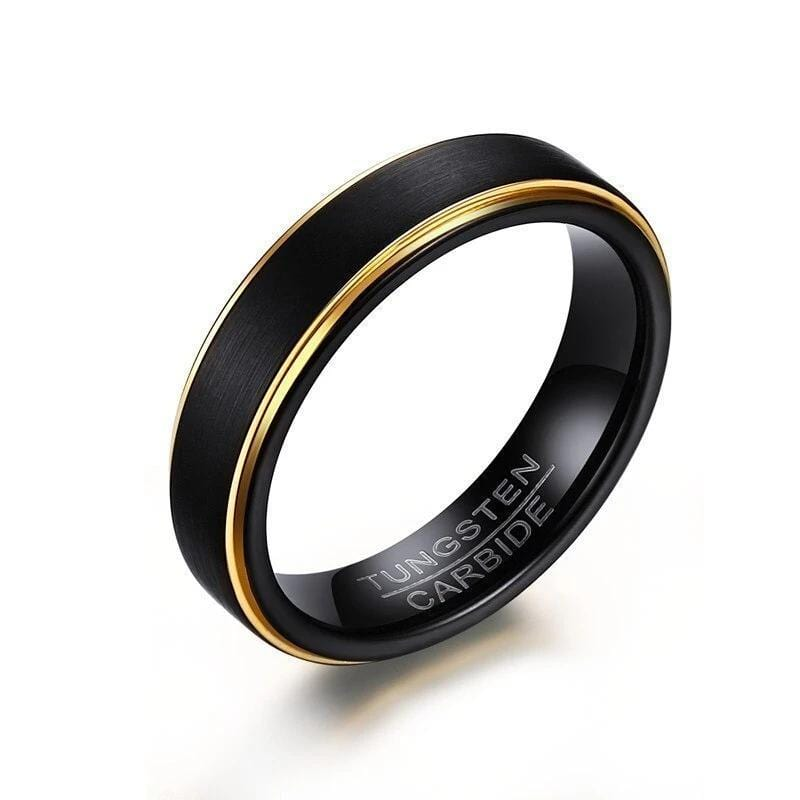 Black Gold Tungsten Ring For Men