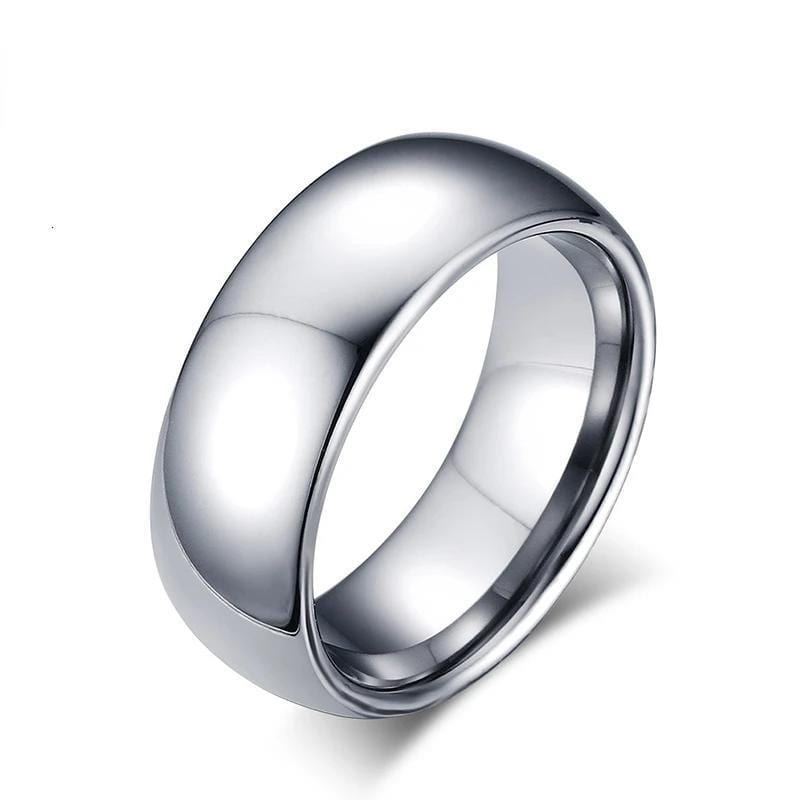 Real Tungsten Silver Male Engagement Ring