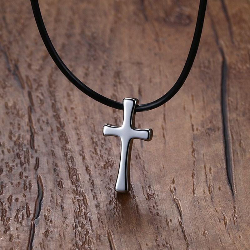 Tungsten  Cross Necklace for Men