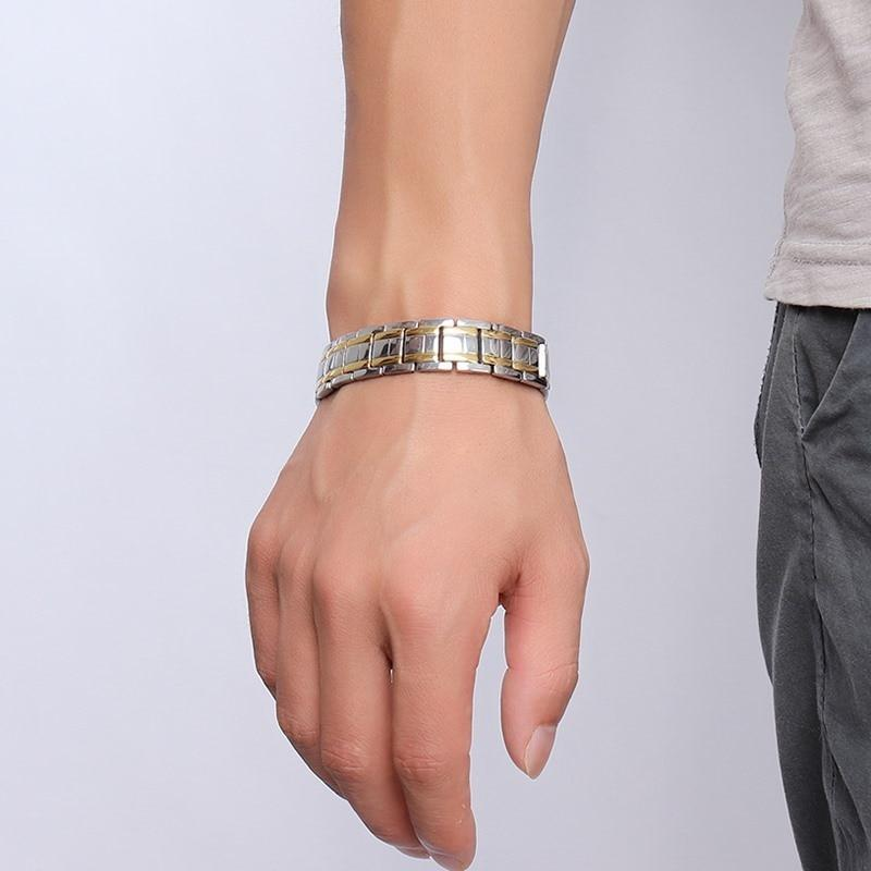 Stainless Steel Magnetic Bracelet Men