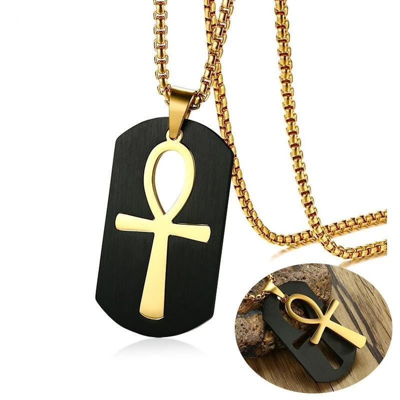 Ankh Key to Life Egyptian Symbol Cross  Pendant Necklace