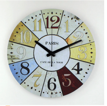 Large Modern Paris Wall Clock