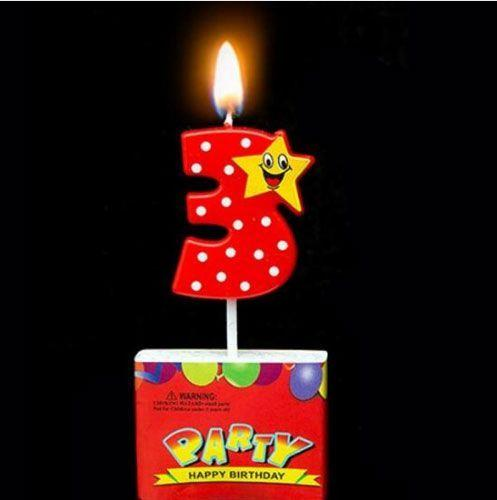 Birthday Candle Numbers - Happy Star Birthday Toppers Candles