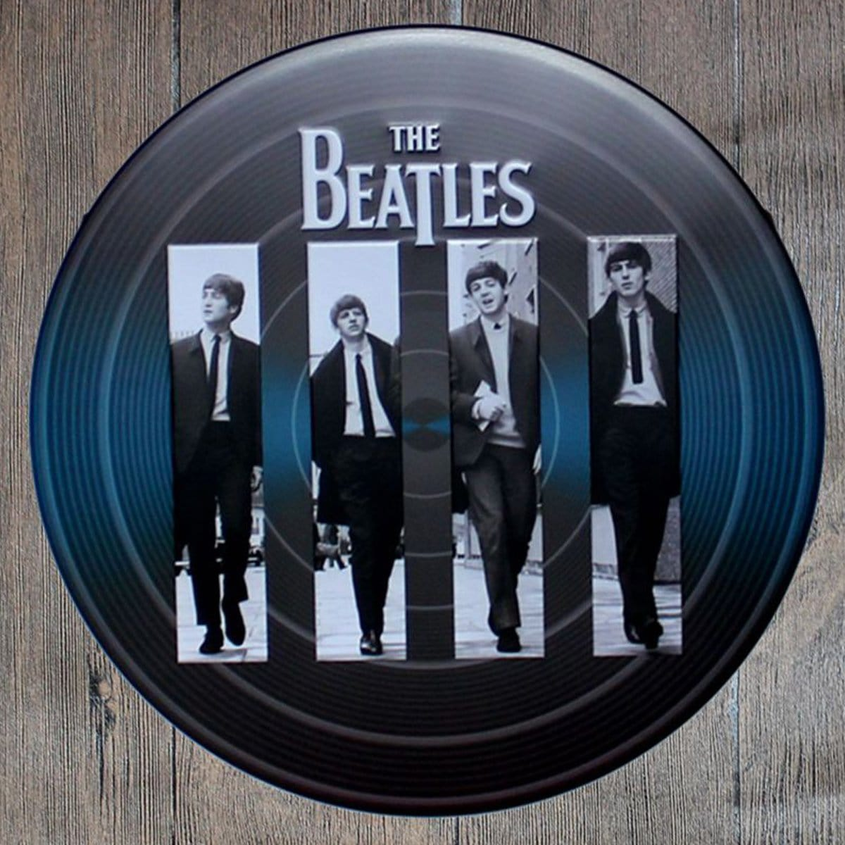 The Beatles Round Embossed Metal Tin Sign Poster