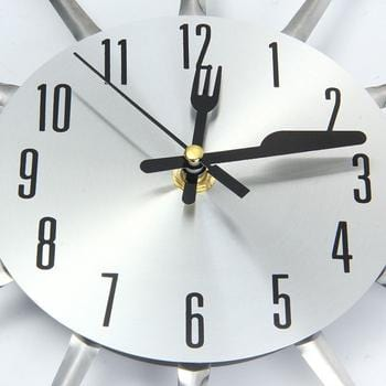 Stainless Steel Kitchen Cutlery Wall Clock