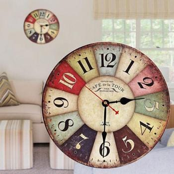 Vintage Antique Wooden Wall Clock