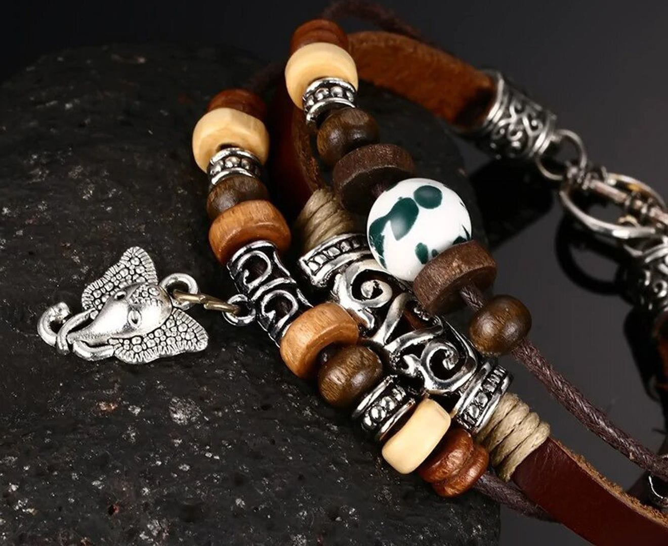 Vintage Genuine Leather Bracelet for Men and Women