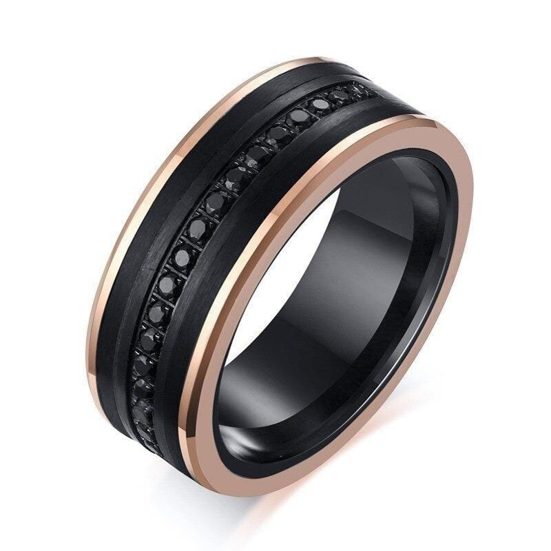 Black Rose  Gold Tungsten Carbide Wedding Ring for Men
