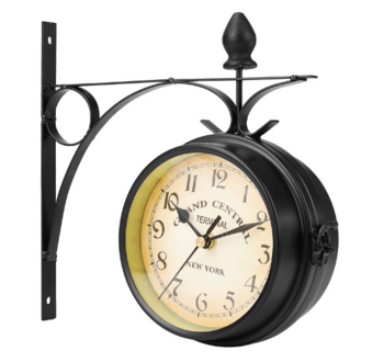 Wall Mount Double Sided Station Clock