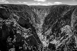 Kneeling Camel at Black Canyon of the Gunnison - BW