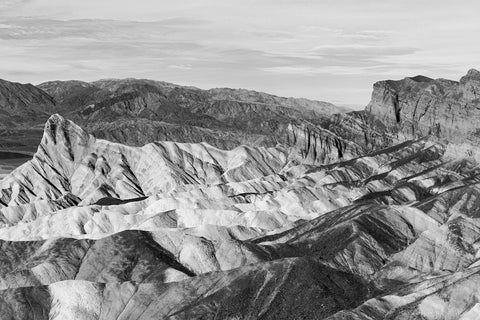 Death Valley - Zabriskie Point - BW
