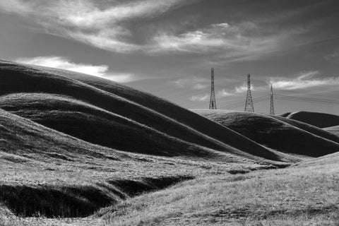 Hills and Powerlines - Central Valley, CA