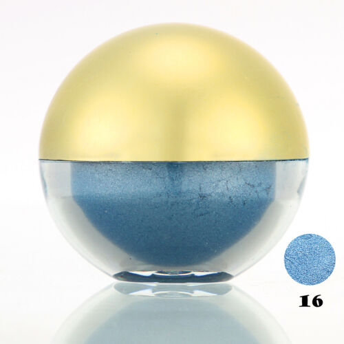 #16 Deep SkyBlue Shimmer Pearl Loose Eyeshadow Cosmetic Powder