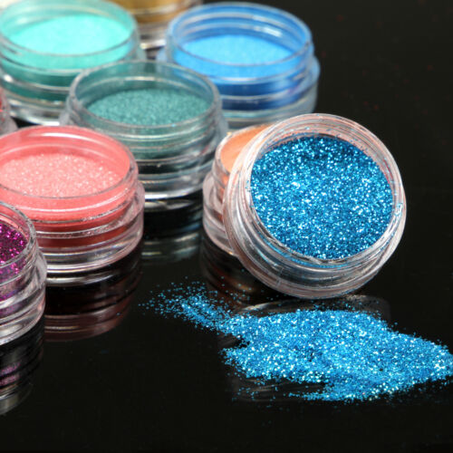 15 Mix Color Loose Eyeshadow Pigment Powder Satin Glitter Powder Makeup Set#A