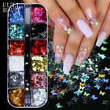 3D Butterfly Sequins Holographic Nail Art Foil Decoration