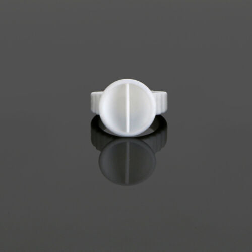 White Disposable Glue Holder Ring Two Wells PMU Tattoo Pigment Eyelash Extension