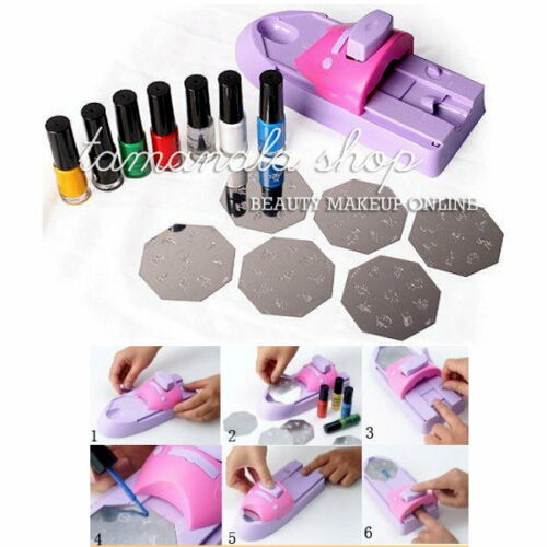 Nail Art Printer Print Printing Pattern Stamp Manicure Machine Stamper Sets