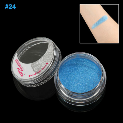 Dark Blue Shimmer Loose Makeup Powder Eye Pigment Mineral Eyeshadow#24