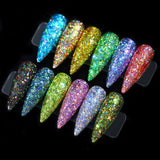 12 Colour Mix Nail Art Craft Glitter Powder