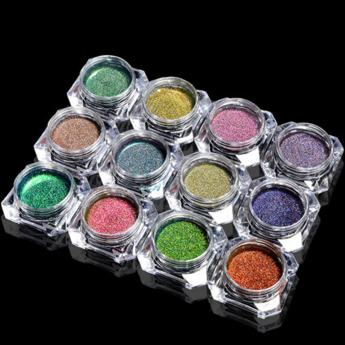 1PC 0.2g Unicorn Nail Art Laser Peacock Powder Holographic Effect Mirror Chrome