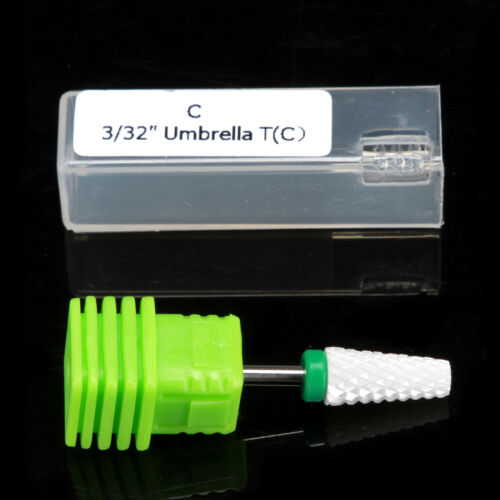 7mm Electric Ceramic Nail Drill Bit F/M/C/XC Grinding Head Nail File Drill Bit 3/32""