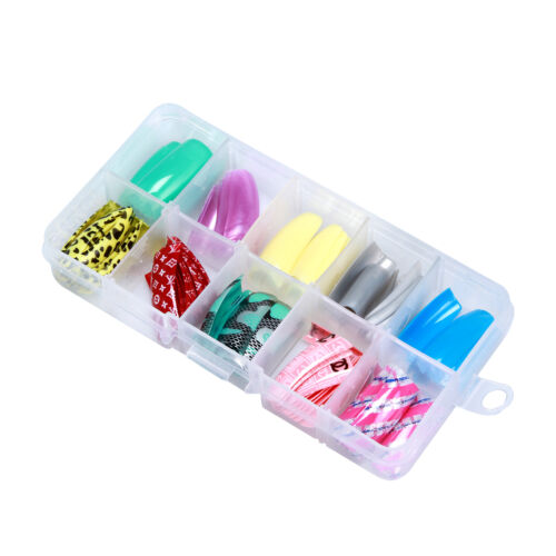 French Airbrush Pattern Nail Art Tips Mixed Box 100PCS