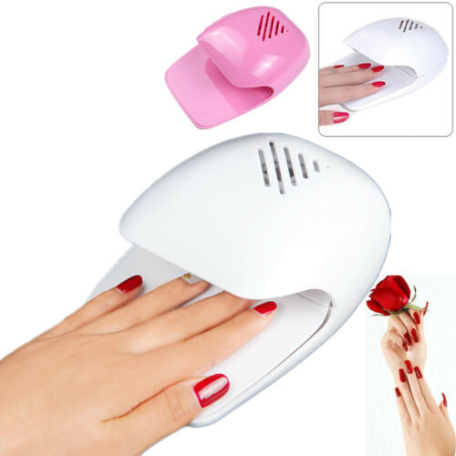 Nail Art Air Drying Blower Finger Toe Varnish Dryer Polish Fan Blower Pink/White