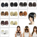 Fiber Clip In On Bangs Fringe Hair Extension Hairpiece Black Brown Blond White