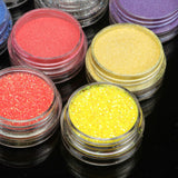 30 Mix Color Loose Eyeshadow Pigment Powder Satin Glitter Eye Makeup Set #B + #E