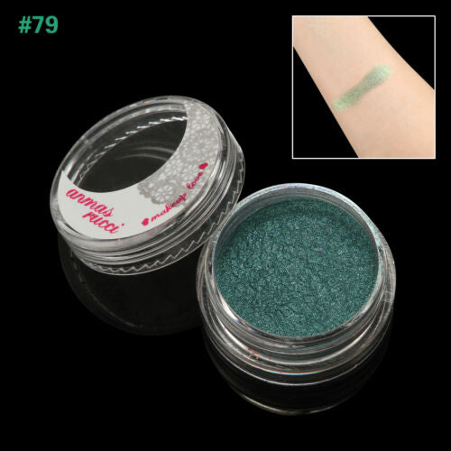 Teal Shimmer Loose Makeup Powder Eye Pigment Mineral Eyeshadow#79