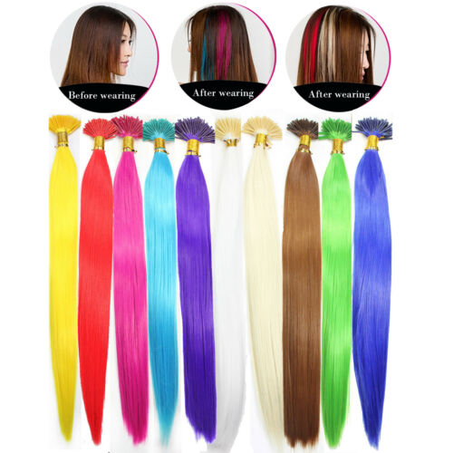 1/10/20PCS x Solid Single Color Synthetic Feather Hair Extensions Salon and Home DIY